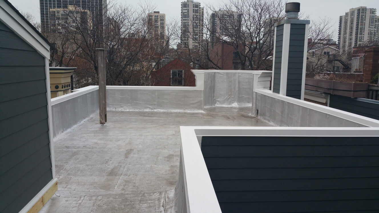 Residential Modified Bitumen Flat Roof Replacement For Home