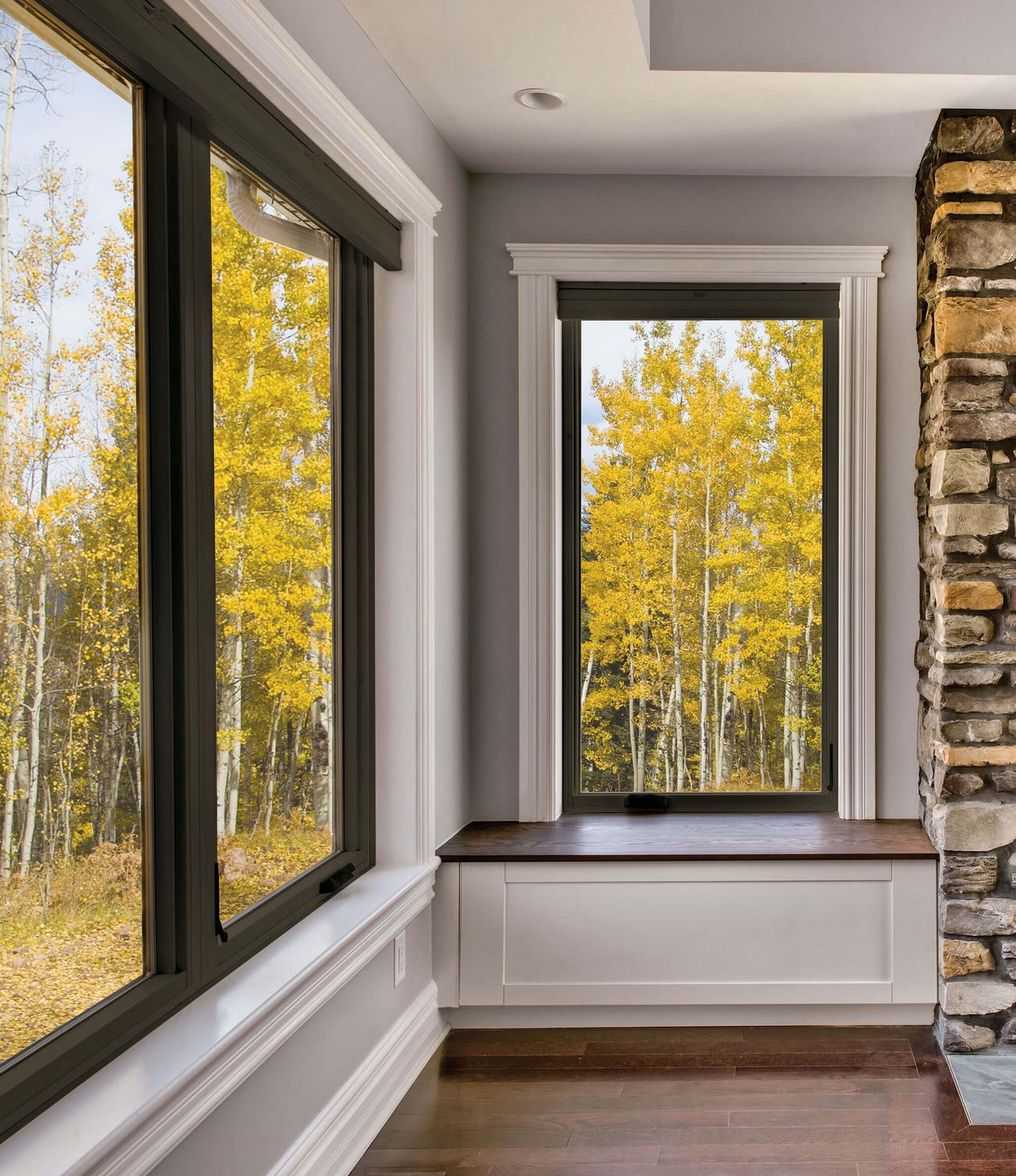 Large Fiberglass Window Replacement Showcasing Natural Beauty For Home Living Room